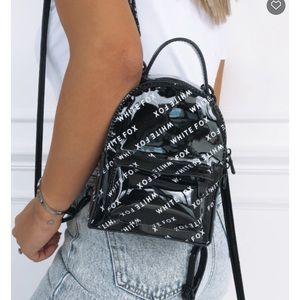 White fox be alrigh mini backpack NWT